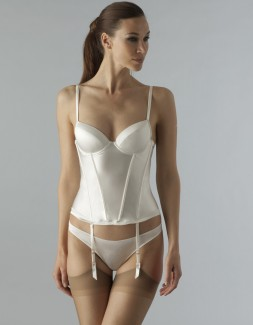Belle Ivory Padded Plunge Basque