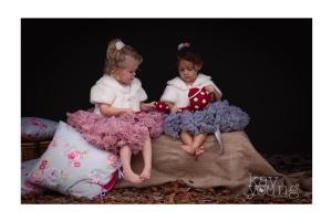 Gorgeous bridesmaids with play tea set