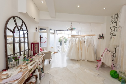 inside the wedding boutique