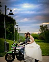 Rainbow biker