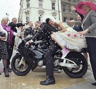 Biker Bride & Groom