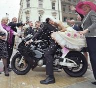 Biker Bride & Groom