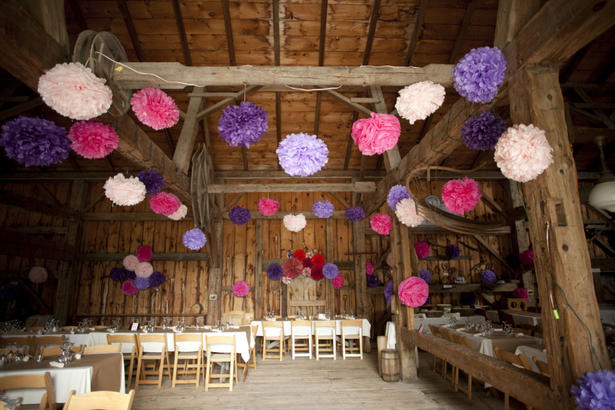 Lanterns in barn