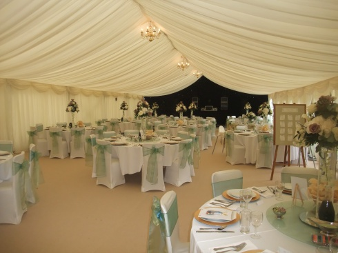 view of inside the marquee