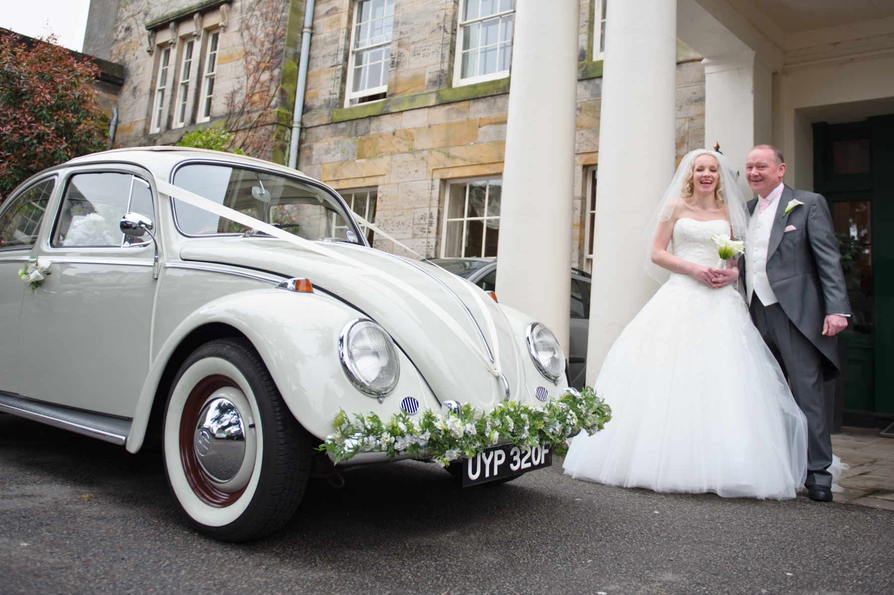 Wedding car hire the wedding dolls helen started using pootles to chauffeur other couples on their big day and has been pootling to fabulous weddings for the past 3 years junglespirit Gallery